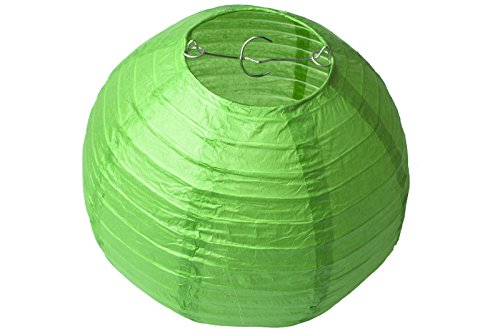 Paper-Lampshades-Lantern-Wedding-Decorations-16-Lime-green