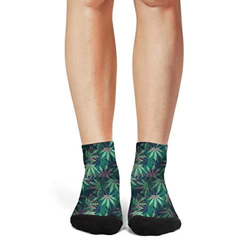 Scvsd12 Green Cannabis Funny Coffee Women Comfortable Colorful Sport Sock