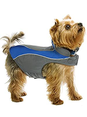 Kakadu Pet Nylon Shell And Fleece Lined Dog Coat With Reflective Stripe