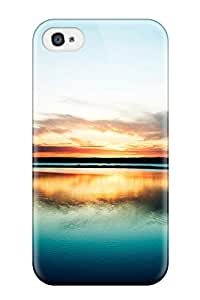 Shock-dirt Proof Harbour Sunset Case Cover For Iphone 4/4s