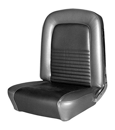 TMI 43-70227-958 Mustang Black Sierra Grain Vinyl Full Set Upholstery (Coupe)