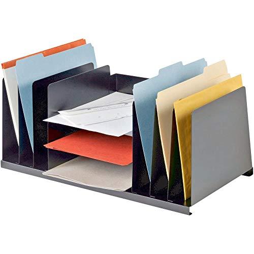 - 636643 MMF, MMF2643DOBK, Letter Size Desk Organizer, 1 Each, Black