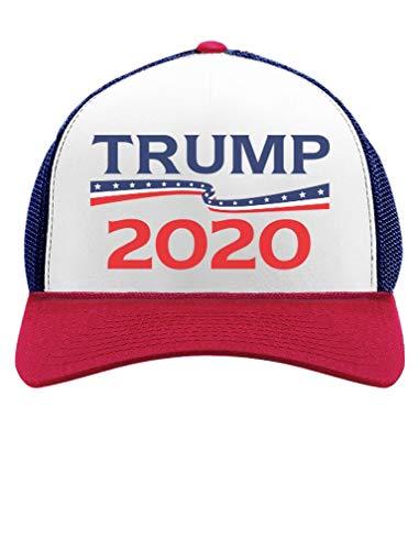 Tstars - Donald Trump President 2020 Campaign Trucker Hat Trucker Hat Mesh  Cap One Size Blue b7b552e81a84