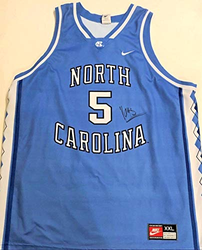 (Nassir Little UNC Tar Heels Signed 2XL Basketball Jersey W/COA Proof - Autographed College Basketballs)