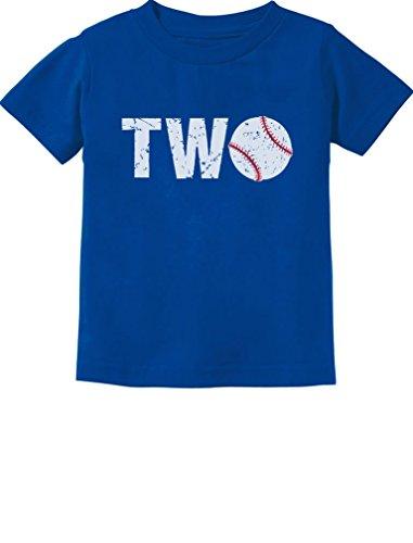 TeeStars - 2nd Birthday Gift for Two Year Old Baseball Toddler Kids T-Shirt 2T Blue ()