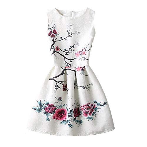 Zebra Remember Girls Dresses Floral Flower Print Sleeveless Skirts Dress Casual Party