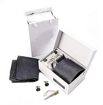 8.5cm 6pcs of set business men necktie set with cuff link Kerchief bow tie clip set fashion strap necktie