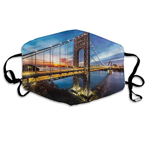 - United States Fashion Mouth Mask New Jersey Manhattan for Cycling Camping Travel W4