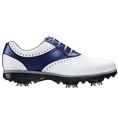 Footjoy Emergono Scarpe Da Golf 2016 Donne Closeout Bianco / Blu Medio 9.5