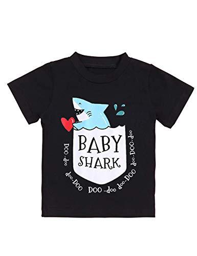 Newborn Baby Shark Song Doo Doo Doo Cute Short Sleeve Clothes for Boy Girl Infant Kids T-Shirt