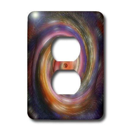 lsp_4072_6 Cindy Thorrington Haggerty Kaleido Mandela - Halloween Magic Spell - Light Switch Covers - 2 plug outlet -