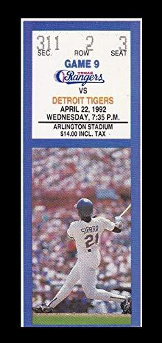 (1992 Texas Rangers v Detroit Tigers Ticket 4/22/92 Palmeiro HR 24929)