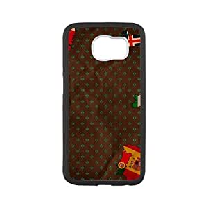 Samsung Galaxy S6 Cell Phone Case Black Bits of Flags SUX_189770