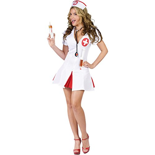 Fun World Women's Nurse Costume, Multi, Small/Medium -