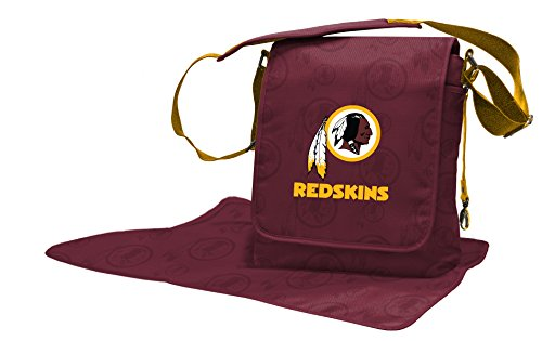 Wild Sports NFL Washington Redskins Messenger Diaper Bag, 13.25 x 12.25 x 5.75-Inch, Red by Wild Sports