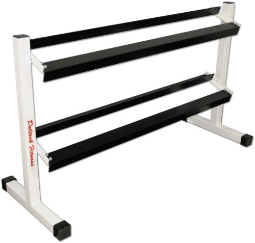 Deltech Fitness Two Tier 54'' Dumbbell Rack by Deltech Fitness