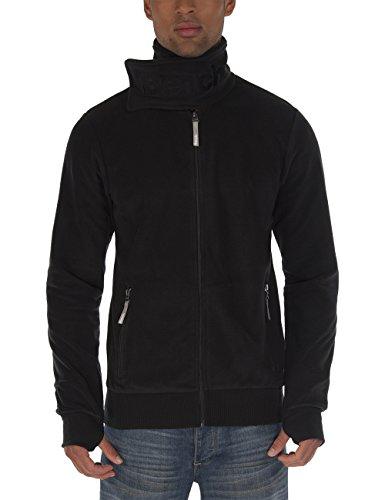Bench Herren Sweatshirt Fleecejacke Core Funnel C schwarz (Jet Black) Large