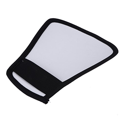 (Camera Flash Diffuser Softbox Silver and White Reflector for Canon 580EX for Nikon SB-600 for Minolta 5600hs for Sony HVL-F1000)