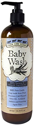 Four Cow Farm Baby Wash, 485 ml (Over Foaming Baby Wash)