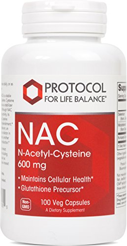 Protocol For Life Balance – NAC (N-Acetyl Cysteine) 600 mg – Glutathione Precursor that Maintains Cellular Health, Supports Liver & Lung Function & Immune System Function – 100 Veg Capsules Review