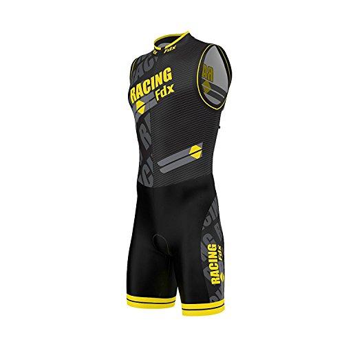 Fdx Triathlon pak voor heren, ademend, sneldrogend, mouwloos, trisuit voor duatlon zwemmen, fietsen, hardlopen…