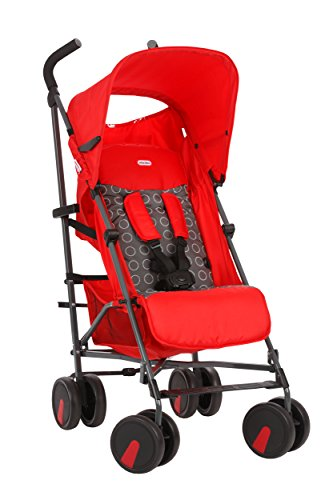 Little Tikes Stroll N' Go Lightweight Stroller with Umbrella Fold, Red