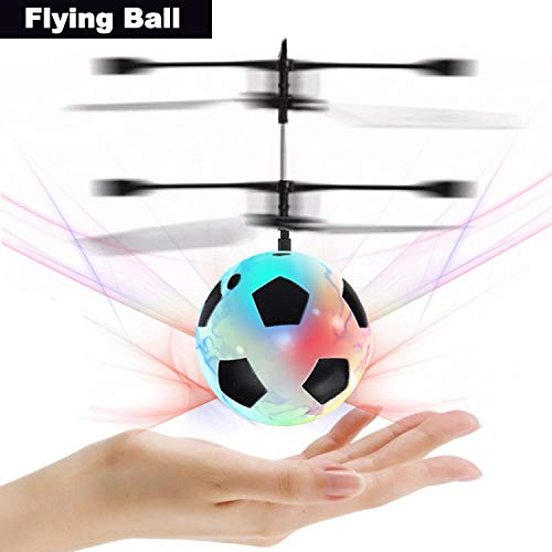 Flying Ball, Kids Toys Hand Control Helicopter Mini Infrared Induction Drone Magic RC Flying Toys with Shinning LED Lights Fun Gadgets for Boys Girls Kids Teenagers Men Women