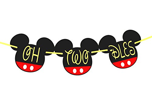 oh two-dles | oh two-dles birthday | oh two dles birthday party supplies | Mickey Mouse Birthday Banner| Mickey mouse party supplies| Mickey mouse clubhouse party| 2nd (2 Side House Banner)