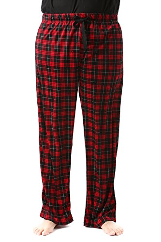 #FollowMe 45903-16-M Fleece Pajama Pants for Men/Sleepwear/PJs,Plaid 16,Medium
