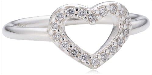 Amazon Com Pandora Be My Valentine Ring Clear Cz 190861cz 54 Size