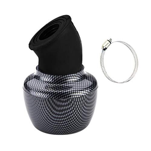 Price comparison product image B Blesiya 24mm-48mm Angled Apple Shape Pod Intake Air Filter High Flow for KTM - Carbon Fiber