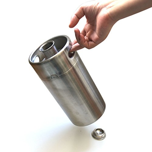 Miniature Stainless Steel 2L Beer Keg Growler Homebrewing Beer Keg