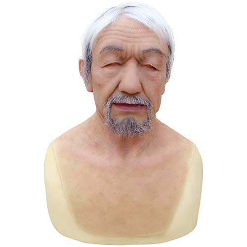 """(Realistic Handmade Silicone Mask Old Man """"William"""" Face for Halloween Costume Party Cosplay CD &)"""