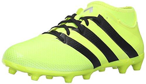 adidas Performance Men's Ace 16.3 Primemesh FG/AG Soccer Shoe, Solar Yellow/Black/Metallic Silver, 13 M US AQ3439