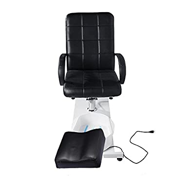 BEAMNOVA Hydraulic Pedicure Chair Beauty Adjustable Lift Chairs with Easy-Clean Bubble Massage Footbath Salon Equipment SPA