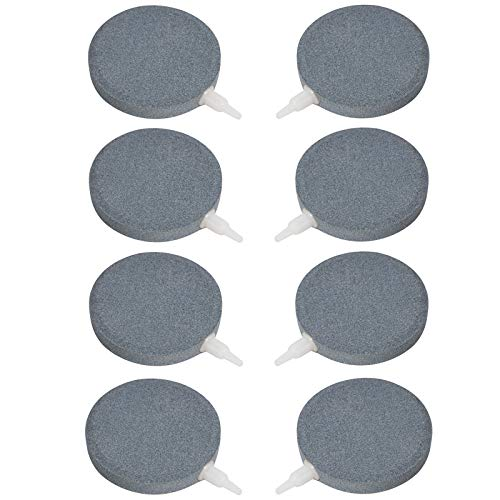 "Aquaneat 8PCS Air Stones 3"" Disk Bubble Diffuser Aquarium Decor Hydroponics Fish Tank Pond Aerator"