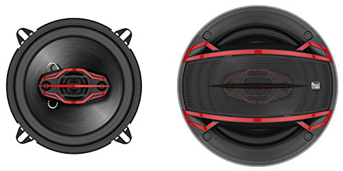 Dual Electronics DLS524 4-Way 5 ¼ inch Car Speakers with 120 Watt Power & 30mm Mylar Balanced Dome Midrange