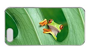 Hipster iphone 5S cover top Red Eyed Tree Frog PC Transparent for Apple iPhone 5/5S WANGJING JINDA