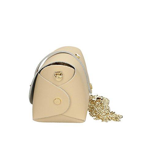 en en Cm 18x11x9 Beige sac Aren femme pour petite à italie fabriqué bandoulière cuir véritable nYqUwZv