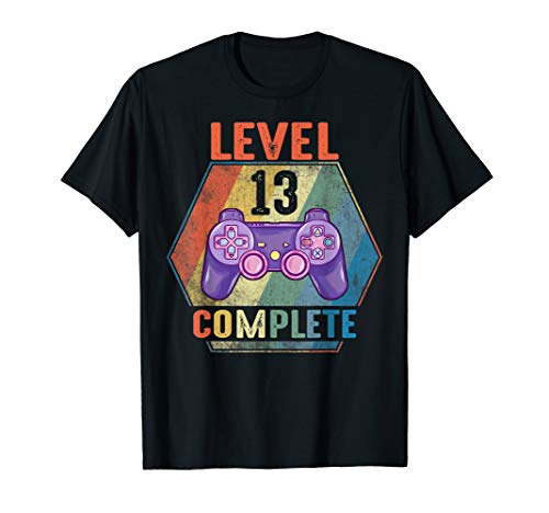 Level 13 Complete Vintage Gift Shirt Celebrate 13th Wedding T-Shirt
