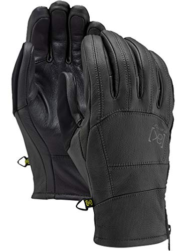 Burton Men's Ak Leather Tech Glove, True Black, Small ()