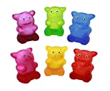 Sticky Squeeze Gummy Bear Toys - Set Of 12 Stress Relief Sticky Toys