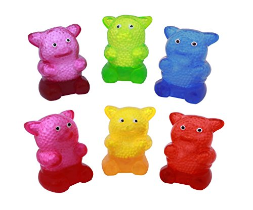 Sticky Squeeze Gummy Bear Toys - Set Of 12 Stress Relief Sticky Toys by SNInc.