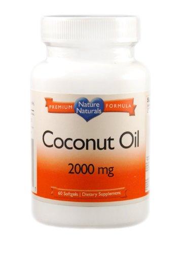 Huile de noix de coco, 100% Bio, 2000mg/serving puissance extrême, gélules, 120.000 mg par bouteille, puissance extrême