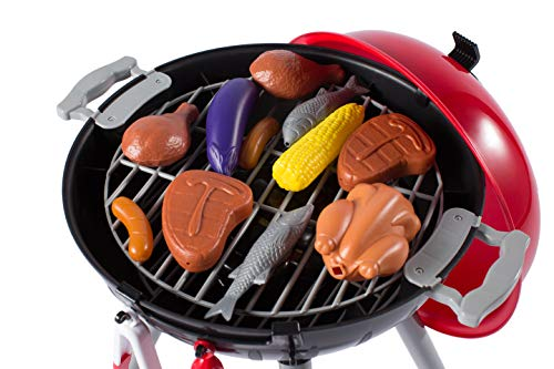 NBD Corp This 8 Piece Backyard Barbeque Get Out 'N Grill Toy Barbeque Grill Set is Great to Have A Realistic Playtime Fun Adventure for Kids and The Whole Family by NBD Corp (Image #6)