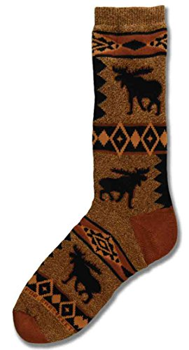 - For Bare Feet Women's FBF Originals Wildlife Novelty Socks, Moose Blanket Motif, Medium