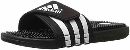 adidas Men's Adissage Sandal,Run White/Graphite/Run White,10 M