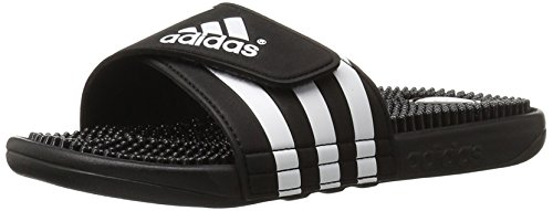 adidas Originals Men's Adissage Slides,Black/Black/White,9 M