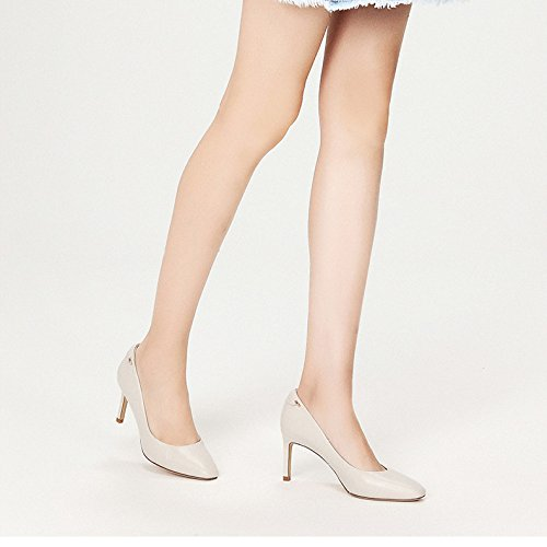 Party Tête Peau White en 4 5 37 Mode De Nightclub Mouton Carrée Noir Party Hauts Travail Cour EU Chaussures 5cm Sexy WeddingDaphne Talons UK Femme 7 Chaussures qvHZw4