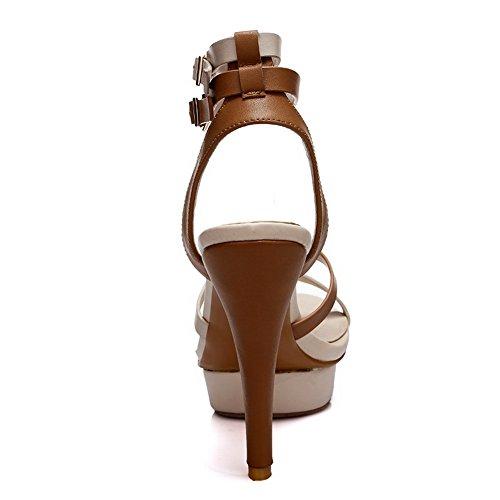 1TO9 - Sandalias de vestir para mujer albaricoque
